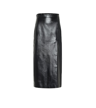 Gucci - Leather pencil skirt - mytheresa.com