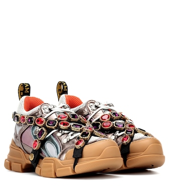 Gucci - Flashtrek embellished sneakers - mytheresa.com