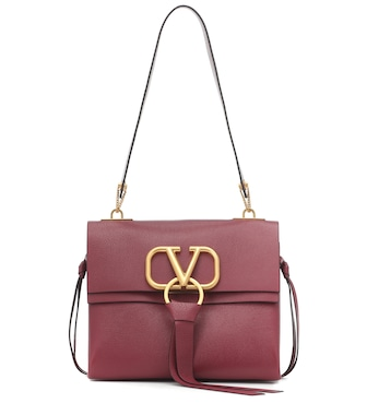 Valentino - Valentino Garavani VRING Small leather shoulder bag - mytheresa.com