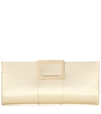 Roger Vivier - Belle Vivier metallic leather clutch - mytheresa.com