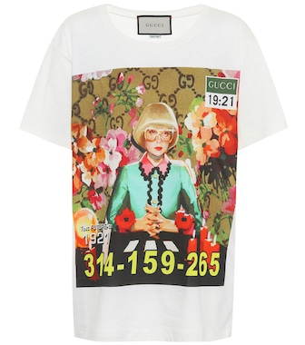 Gucci - Printed cotton T-shirt - mytheresa.com