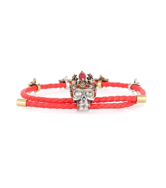 Alexander McQueen - Queen leather bracelet - mytheresa.com