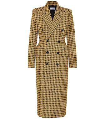 Balenciaga - Houndstooth wool-blend coat - mytheresa.com