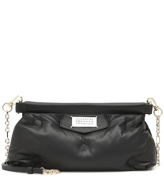 Maison Margiela - Red Carpet Glam Slam leather clutch - mytheresa.com