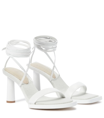 Jacquemus - Les Carrés Ronds leather sandals - mytheresa.com