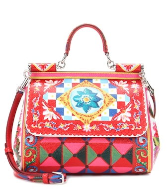 Dolce & Gabbana - Sicily Medium printed leather shoulder bag - mytheresa.com