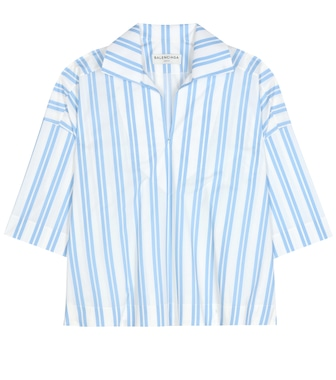 Balenciaga - Striped cotton blouse - mytheresa.com