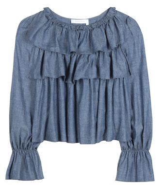 See By Chloé - Cotton-blend chambray top - mytheresa.com