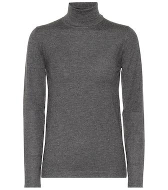 Brunello Cucinelli - Cashmere-blend turtleneck sweater - mytheresa.com