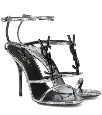 Saint Laurent - Cassandra 110 leather sandals - mytheresa.com