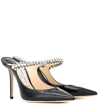 Jimmy Choo - Bing 100 patent leather mules - mytheresa.com