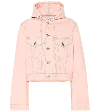 Ganni - Hooded jean jacket - mytheresa.com