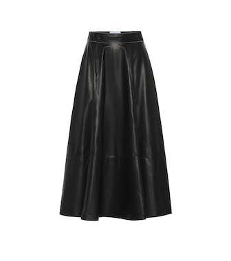 Loewe - Lamb leather skirt - mytheresa.com