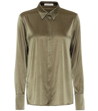 Dorothee Schumacher - Sense of Shine satin shirt - mytheresa.com