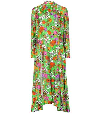 Balenciaga - Floral-printed dress - mytheresa.com