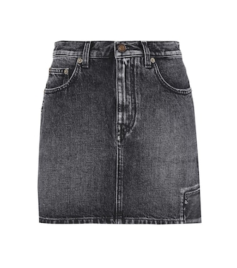 Saint Laurent - Denim mini skirt - mytheresa.com