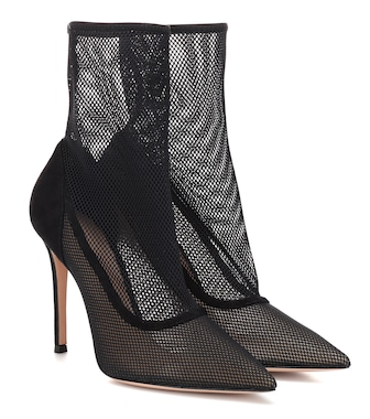 Gianvito Rossi - Erin mesh ankle boots - mytheresa.com