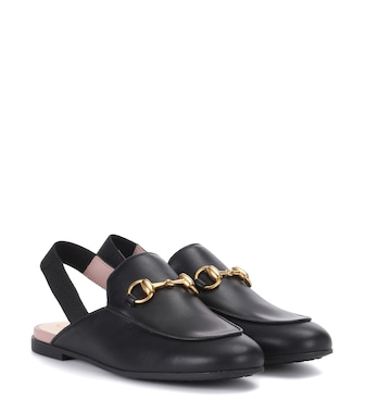 Gucci Kids - Princetown leather slippers - mytheresa.com