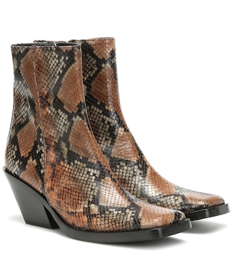 Acne Studios - Braxton Viper leather ankle boots - mytheresa.com