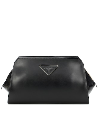 Prada - City leather clutch - mytheresa.com