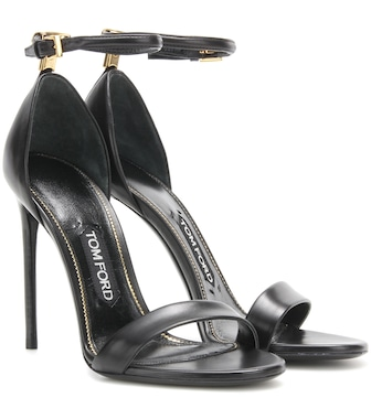 Tom Ford - Embellished leather sandals - mytheresa.com