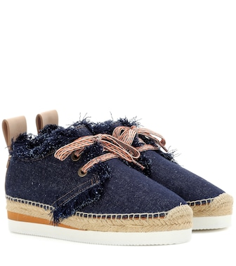See By Chloé - Denim lace-up espadrilles - mytheresa.com