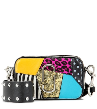 Marc Jacobs - Punk Patchwork Snapshot Small leather shoulder bag - mytheresa.com