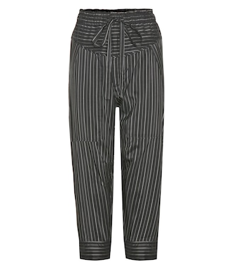 Isabel Marant - Shantel striped silk-blend cropped trousers - mytheresa.com