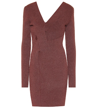 Bottega Veneta - Ribbed-knit silk-blend minidress - mytheresa.com