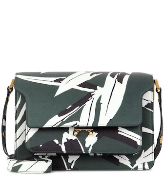 Marni - Trunk printed leather shoulder bag - mytheresa.com