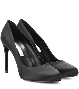Stella McCartney - Pumps aus Satin - mytheresa.com