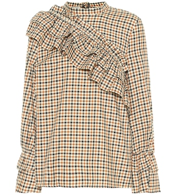 Baum und Pferdgarten - Moya frilled check cotton top - mytheresa.com