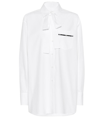 Valentino - Oversized cotton shirt - mytheresa.com