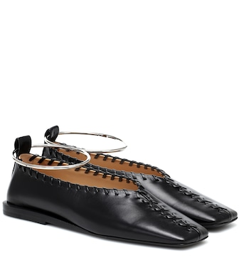 Jil Sander - Leather ballet flats - mytheresa.com