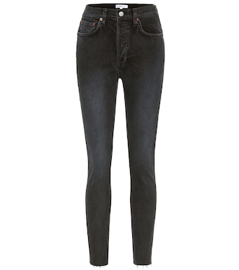 Re/Done - High-rise ankle crop skinny jeans - mytheresa.com