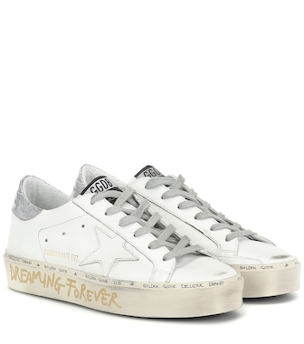 Golden Goose - Exclusive to Mytheresa – Hi Star leather sneakers - mytheresa.com