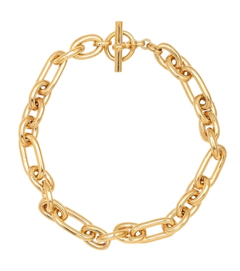 Tilly Sveaas - Medium Watch 18kt gold-plated chain necklace - mytheresa.com