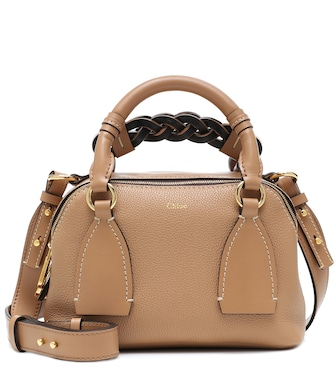 Chloé - Daria Small leather shoulder bag - mytheresa.com