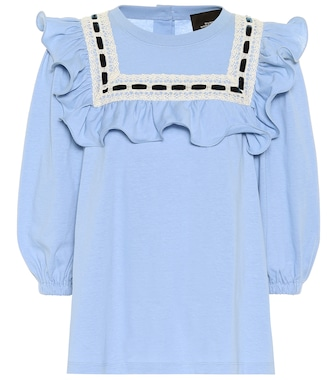 Marc Jacobs - Cotton jersey ruffle top - mytheresa.com