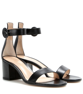 Gianvito Rossi - Leather sandals - mytheresa.com