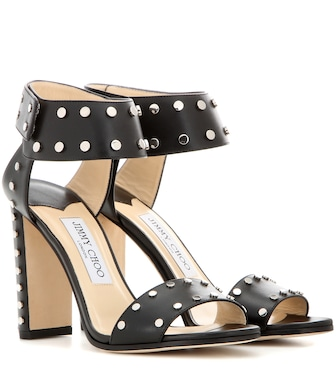 Jimmy Choo - Veto 100 embellished leather sandals - mytheresa.com