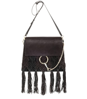 Chloé - Faye fringed leather shoulder bag - mytheresa.com