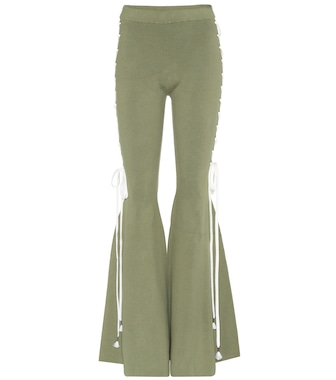 Fenty by Rihanna - Cotton-blend flared trousers - mytheresa.com