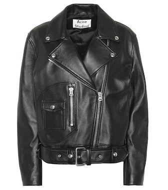 Acne Studios - New Merlyn leather jacket - mytheresa.com
