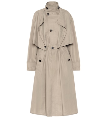 Bottega Veneta - Cotton-blend trench coat - mytheresa.com