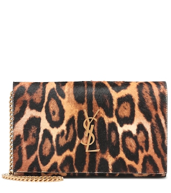 Saint Laurent - Monogram printed calf hair clutch - mytheresa.com