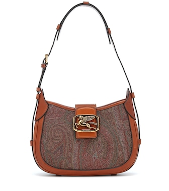 Etro - Pegaso paisley leather shoulder bag - mytheresa.com