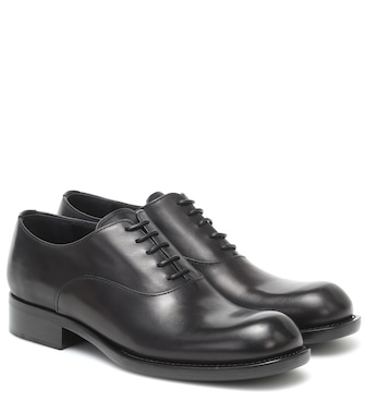 Prada - Leather oxford shoes - mytheresa.com