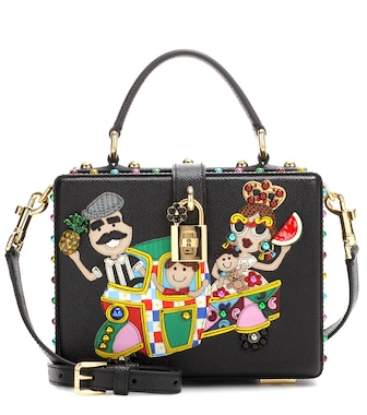 Dolce & Gabbana - Dolce Box embellished leather shoulder bag - mytheresa.com