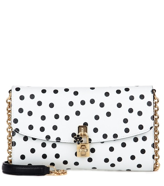 Dolce & Gabbana - Dolce Pochette leather clutch - mytheresa.com